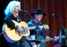 Emmylou Harris and Rodney Crowell perform June 19 at the 2013 Telluride Bluegrass Festival. (Photo by Hans Lehndorff)