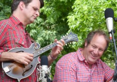 Matt Flinner and Lyons-based bassist Eric Thorin perform a set of newgrass, jazzgrass and new acoustic instrumental music with a bluegrass accent July 27 at Rockygrass in Lyons CO. (Photo by Hans Lehndorff)