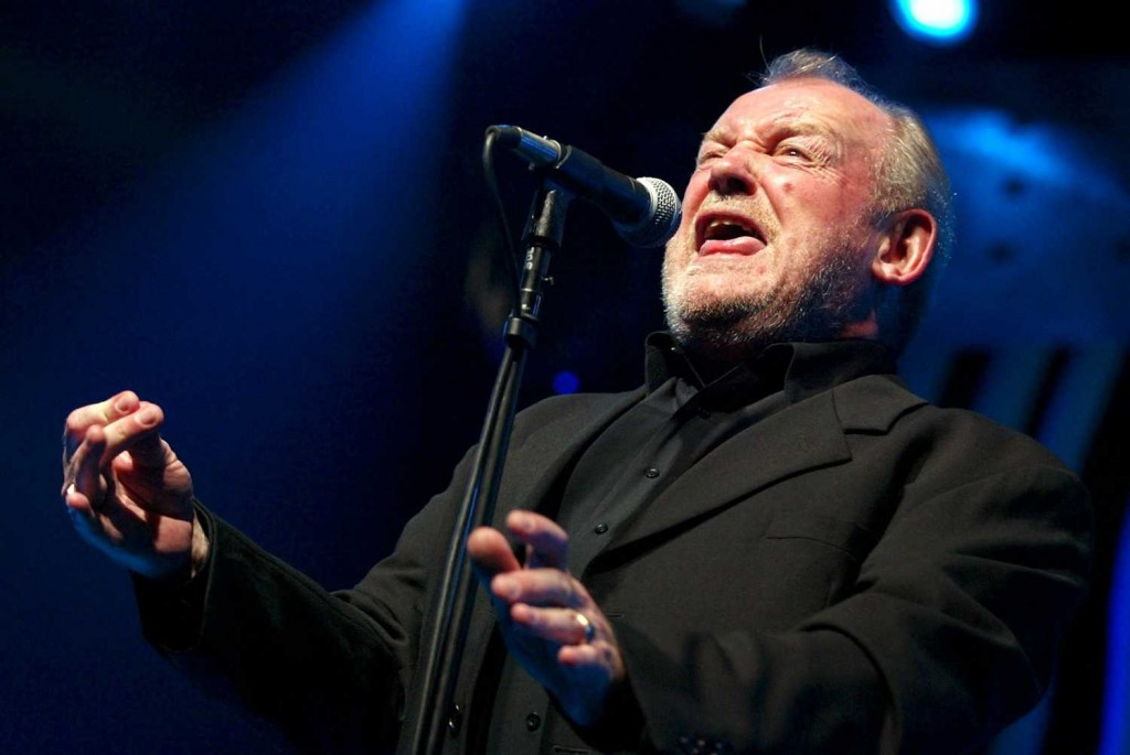 British rock and blues legend Joe Cocker, shown performing at the Montreux Jazz Festival in Switzerland in 2002, is dead of lung cancer at age 70.  (AP Photo / Keystone, Fabrice Coffrini)
