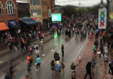 Sixth Street in Austin, Texas, from the roof of Parkside on Friday, March 20, during SXSW 2015. Photo by Quentin Young