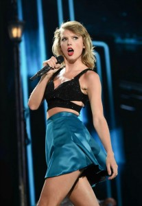 """Taylor Swift, shown during her """"1989"""" world tour, garnered seven Grammy nominations. (Evan Agostini / Associated Press, Invision)"""