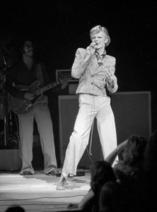 David Bowie performs at Radio City Music Hall in New York in this Nov. 1, 1974, file photo. (Suzanne Vlamis / Associated Press)