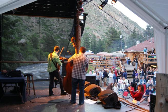 Mishawaka Amphitheatre concertgoers get to listen to musicians such as Head for the Hills, pictured, with picturesque views of the Poudre River in the mountains west of Fort Collins. (Mishawaka / Courtesy photo)