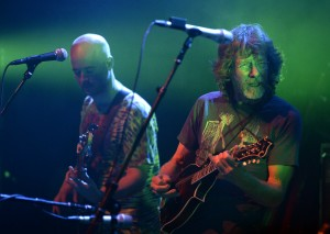 Sam Bush, at right, and Ben Kaufmann perform during a Yonder Mountain String Band concert featuring Sam Bush on Wednesday at the Boulder Theater. For more photos of the concert go to www.dailycamera.com Jeremy Papasso/ Staff Photographer/ Dec. 30, 2015
