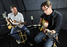 Jeff Brinkman and Mark Kranjcec perform in the Second Story Garage studio at the Daily Camera