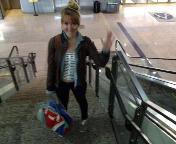 Ashley Dean of SSG arrives at Austin Airport for SXSW