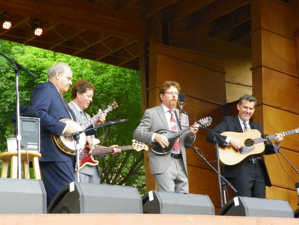 Hot Rize, from left, at 2014 RockyGrass:  Pete Wernick, Nick Forster, Tim O'Brien and Bryan Sutton. (Gabe McCurry / Courtesy photo)
