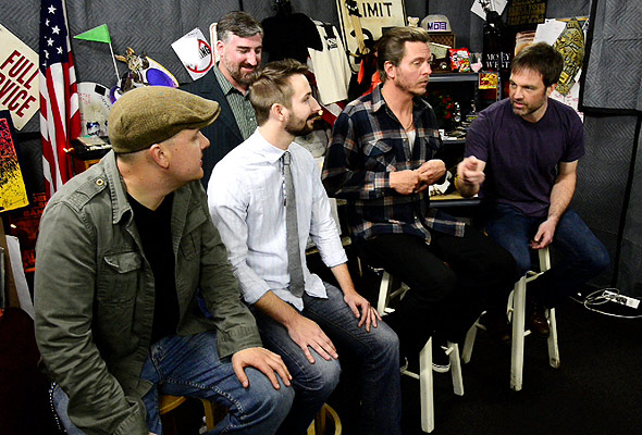 Bradford Lee Folk and the Bluegrass Playboys chat with Quentin Young
