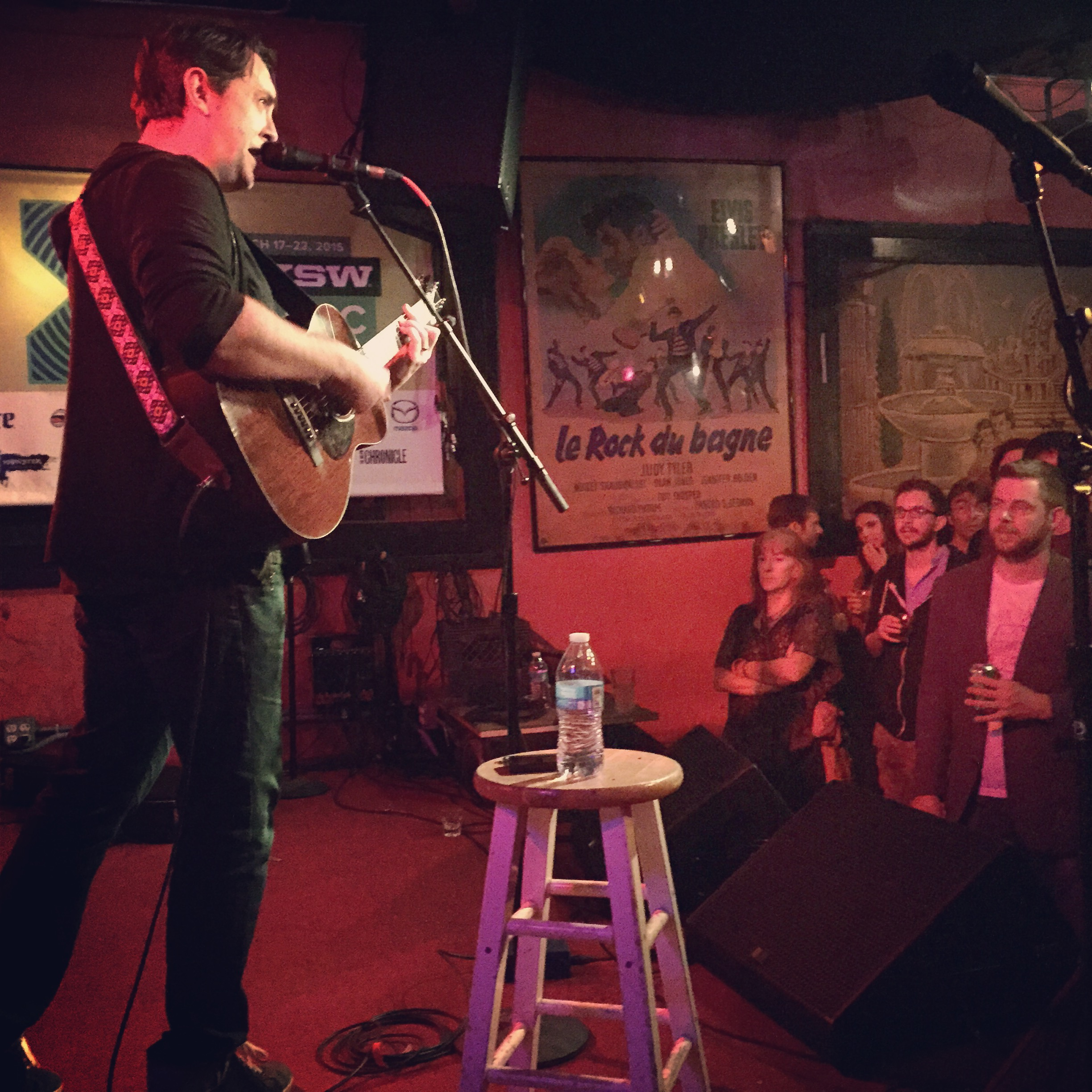 Jeff Austin performs his first SXSW set in Austin, Texas. He performed solo at the Continental Club on March 19, 2015. Photo by Quentin Young