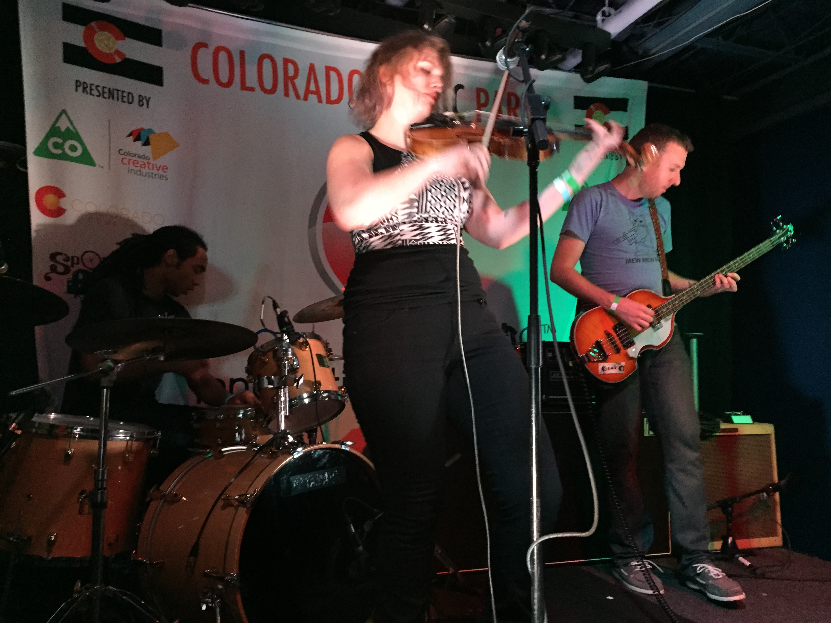 Alana Rolfe plays with Fort Collins band Stella Luce at the Colorado Music Party during SXSW 2015 in Austin, Texas. Photo by Quentin Young