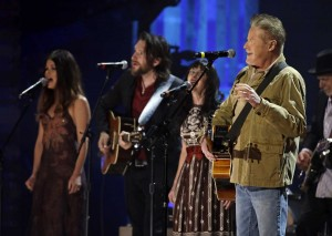Don Henley, right, performs at the Americana Music Honors and Awards show in September 2015, in Nashville, Tenn. (Mark Zaleski / Associated Press)  Source: AP